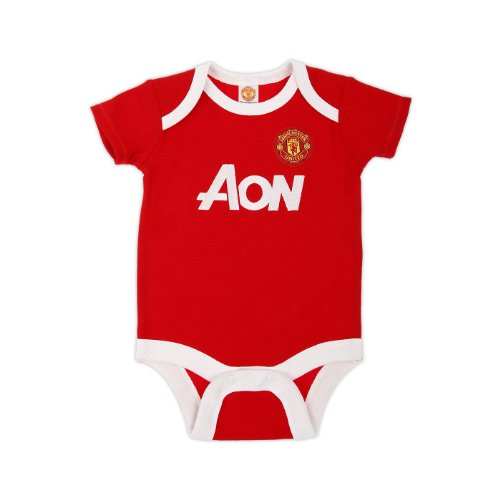 Manchester United Football Club Baby Core Home Bodysuit (Red/White, Newborn)