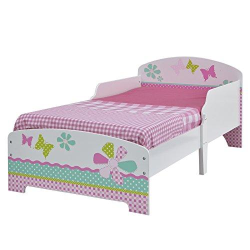 Filles assez n rose Patchwork Toddler Bed + Matelas entièrement suspendue