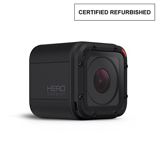 고프로 히어로 GoPro Hero Session 8.0 MP Waterproof Sports & Action Camera with Standard Housing and 2 Adhesive Mounts (Certified Refurbished)