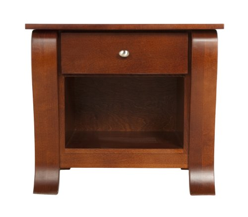 Kidz Decoeur Augusta 1 Drawer Night Table, Toasted Cranberry