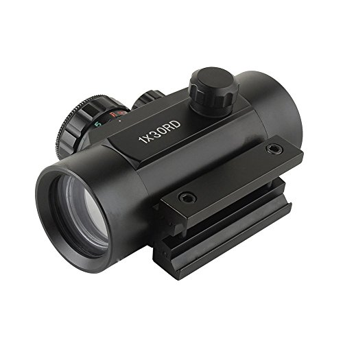 Xwin Rifle scope 1x30RD Red/Green Dot Sight with 11mm/20mm Weaver P-i-c-a-t-i-n-n-y Mounting Brightness for Hunting from Xwin