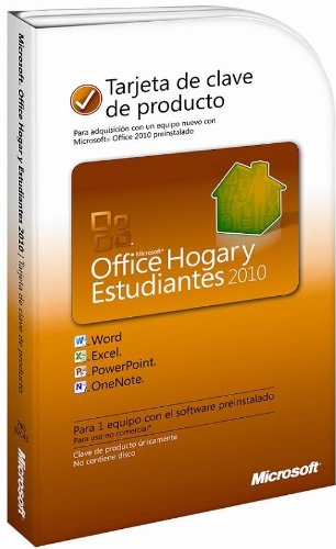 Microsoft Office Home And Student 2010 Pc Product Key Card - Spanish