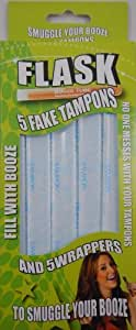 Booze Tubes 5 Tampon Flask Test Tubes with 5 Wrappers, 1-Ounce