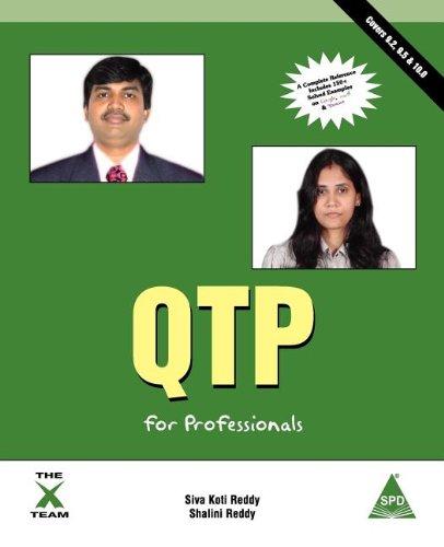 QTP for Professionals - Covers 9.2, 9.5 & 10.0 [Shalini Reddy - Siva Koti Reddy] (Tapa Blanda)
