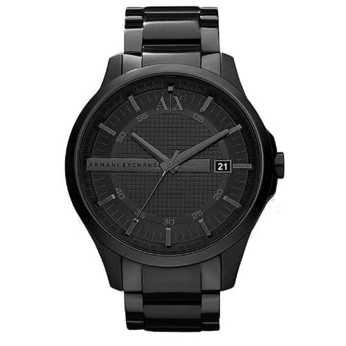 MENS ARMANI EXCHANGE BLACK STAINLESS STEEL WATCH AX2104