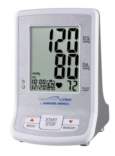 Cheap Samsung Healthy Living BVA-2007 Automatic Inflate Thinline Flat Screen Blood Pressure Monitor with Irregular Heartbeat Detector (BVA-2007)
