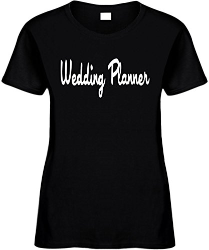 Women's Size M Funny T-Shirt (Wedding PLANNER) Ladies Bridal Wedding Party Tee