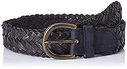 Bosa Black Leather Men's Belt (BELT-003BLK)
