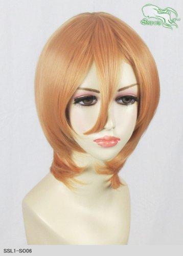 スキップウィッグ 魅せる シャープ 小顔に特化したコスプレアレンジウィッグ マシュマロショート アプリコット