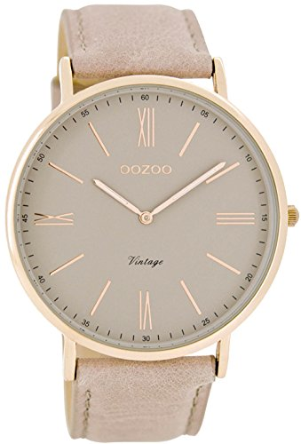 Oozoo-Damen-Armbanduhr-Analog-Quarz-Leder-C7342