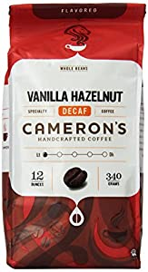 Cameron's Vanilla Hazelnut Decaf Whole Bean Coffee, 12-Ounce Bags (Pack of 3)