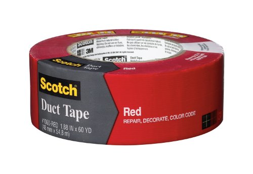 Scotch Duct Tape, Red, 1.88-Inch By 60-Yard front-1000800