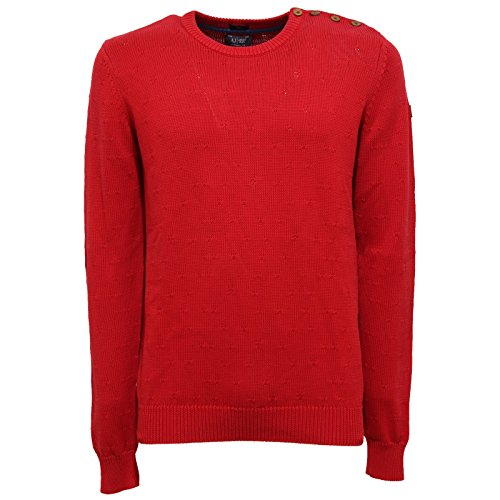 9198Q maglione COTONE uomo ARMANI JEANS sweater men BOTTON SHOULDER [L]