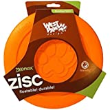 West Paw Design Zogoflex Zisc Guaranteed Tough Flying Disc Dog Play Toy, 6.5-Inch Small, Tangerine