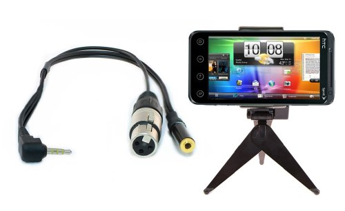 Iphone Video Quick Set Up: Professional Xlr Iphone Cable With Adjustable Folding Mini Tripod Stand Kit