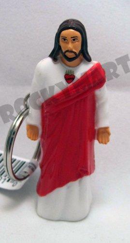 Jesus Christ Flashlight Keychain (Sacred Heart) - LOT OF 6
