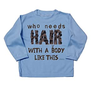 BritTot `Cool and Canny` Who needs hair with a body like this cute funny baby...