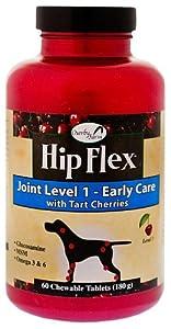 NaturVet 60 Count Hip Flex Level 1 Joint Care Tablets for Pets
