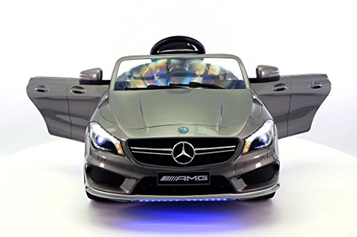2017-Mercedes-CLA-45-AMG-12V-Power-Kids-Ride-on-Toy-wRemote-controlLeather-SeatUV-Lights