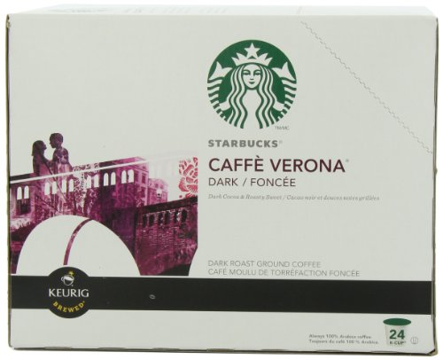 Starbucks Coffee, Caffe Verona Dark K Cup Portion Pack for Keurig Brewers, 24 Count