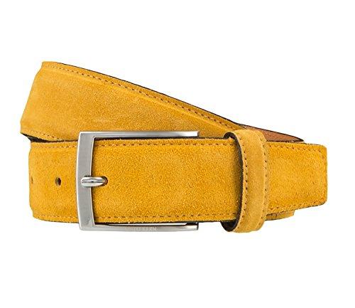 OTTO KERN Cintura di uomini Cintura di Pelle giallo 3673, Länge:90 cm;Farbe:Gelb