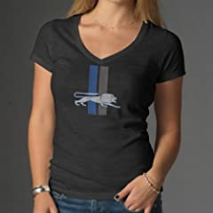 NFL Detroit Lions Ladies V-Neck Scrum Tee by