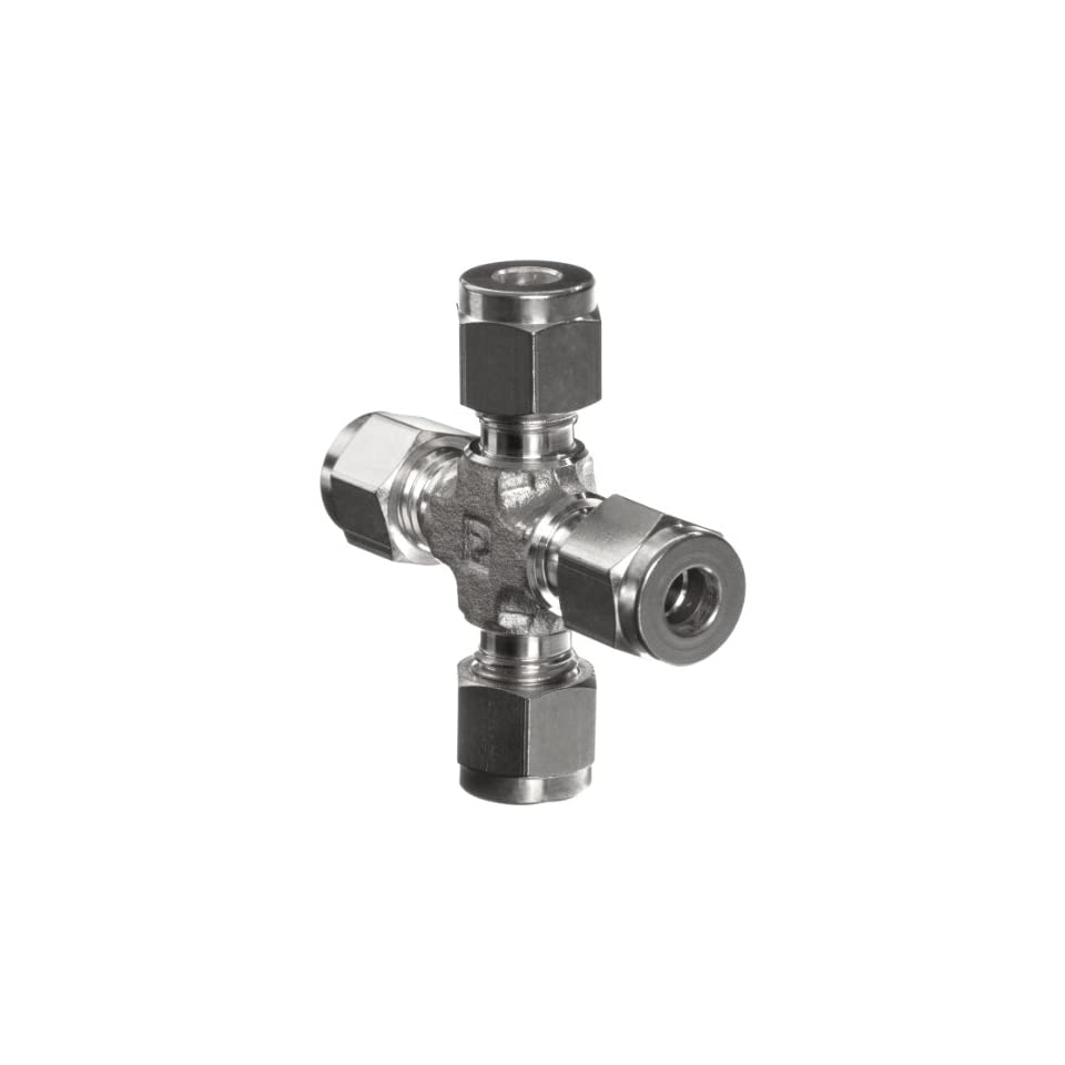 Parker A Lok 6ECR6 316 316 Stainless Steel Compression Tube Fitting, Cross, 3/8 Tube OD