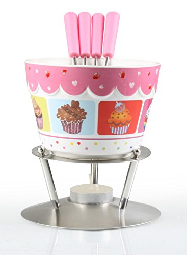 Artestia Chocolate Fondue Set - Cupcake Party (6 Pieces)