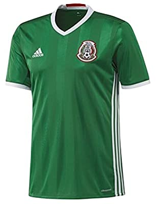 adidas MEXICO NATIONAL SOCCER TEAM 2016 COPA AMERICA MEN'S HOME JERSEY