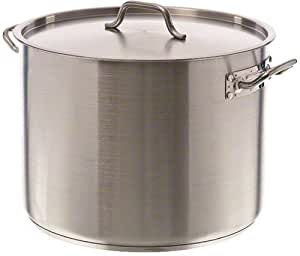 Update International (SPS-40) 40 Qt Induction Ready Stainless Steel Stock Pot w/Cover