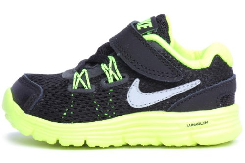 Nike Kids Toddler Lunarglide (Td) Black Volt 525370-001 4c