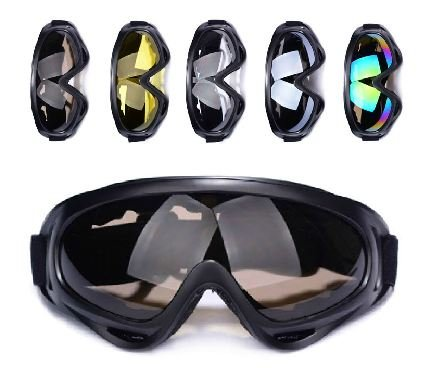 Military Tactical model goggles black frame gray lens X400 Black