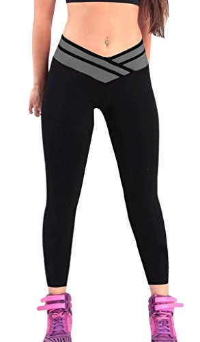comparamus 4how femme leggings sport pantalons longs. Black Bedroom Furniture Sets. Home Design Ideas