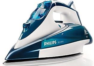 Philips GC4410/02 Dampfbügeleisen (2400 W, SteamGlide-Bügelsohle) weiß/blau