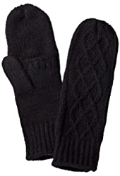 Merona Womens Black Cable Knit Mittens with Finger Openings