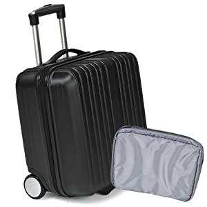 TecTake Business Trolley Case Suitcase wheeled Bag black