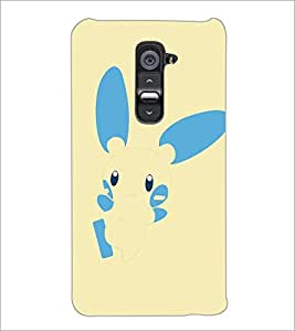 PrintDhaba Bunny D-5146 Back Case Cover for LG G2 (Multi-Coloured)