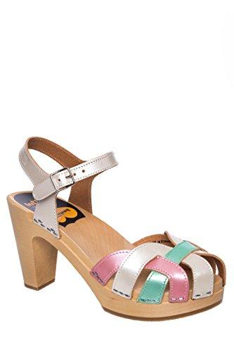 Pearl Mid Heel Clog Sandal