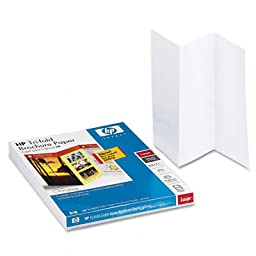 Hewlett Packard Tri Fold Laser Brochure Paper 150 St 8.5 x11 For Hp Color Laserjet Printers