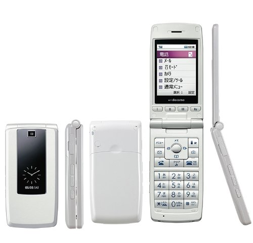SIMフリー・モバイル出品FOMA LG L-03A珍しGPS無 簡単携帯SIMロック解除済み (パールホワイト)