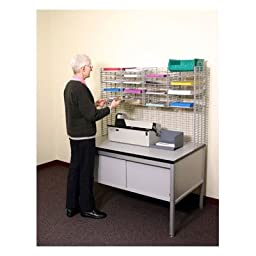 16 Pocket Raised Mail System Wire Shelves Size: 11.13\