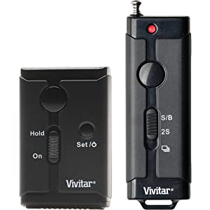 Vivitar Universal Wireless and Wired Shutter Release Remote Control fits Canon, Nikon, Sony & Olympus DSLR Cameras