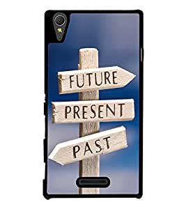 Life Direction Sign Board 2D Hard Polycarbonate Designer Back Case Cover for Sony Xperia T3