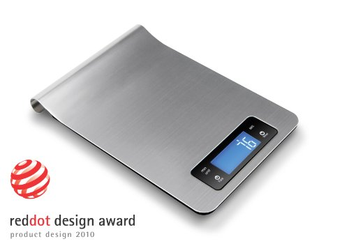 DESIGN DIGITAL Küchenwaage Briefwaage Edelstahl 5000g 1g>>> RedDot Design Award Winner Product