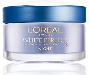 L'oreal Paris White Perfect Transparent Rosy Whitening Night Cream Size: 50 Ml. (1.7 Oz)
