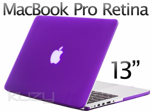 Kuzy - Retina 13-Inch PURPLE Rubberized Hard Case for MacBook Pro 13.3