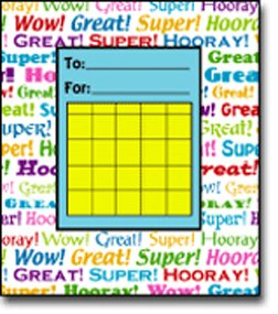 Mini Incentive Charts Positive Word - 1