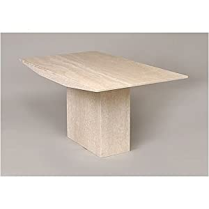 small marble dining table light travertine monaco