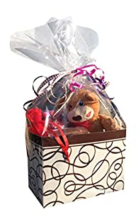 Perfect Valentine Gift Basket with Sweetheart Plush, Chocolate Truffle Candle, and a Variety of…