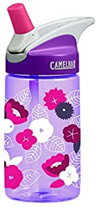CamelBak Kid's Eddy Water Bottle, Peonies, .4-Liter